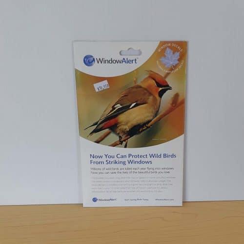 Window Alert Bird decals 4 pk